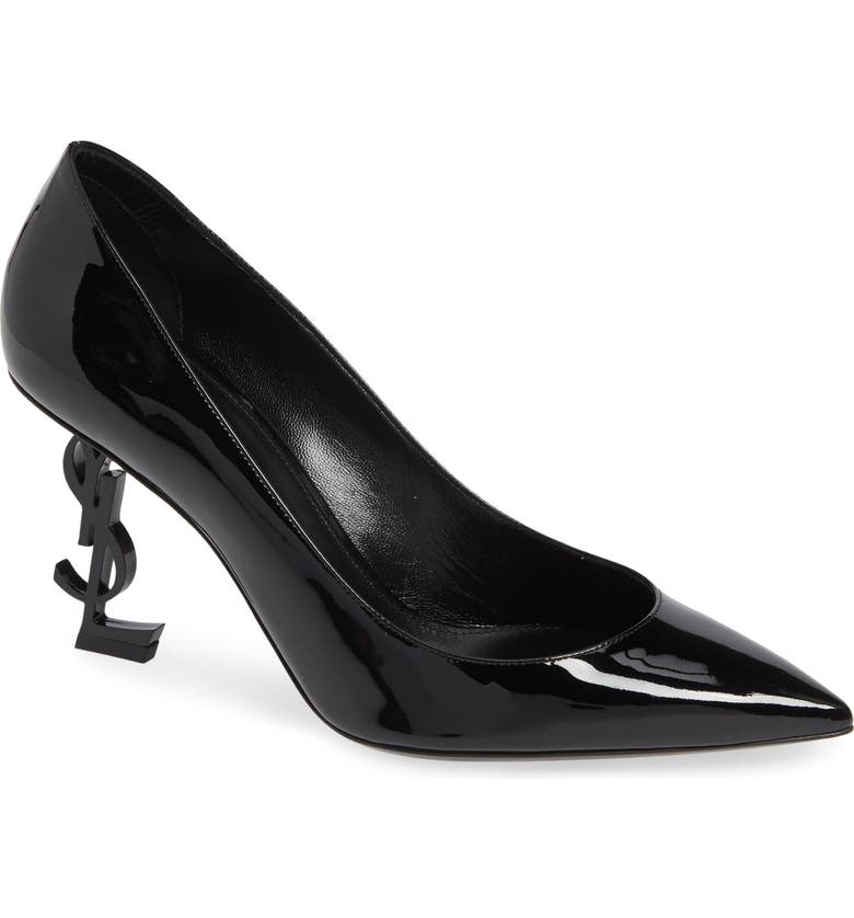 SAINT LAURENT Opyum Pump, Main, color, BLACK PATENT/ BLACK