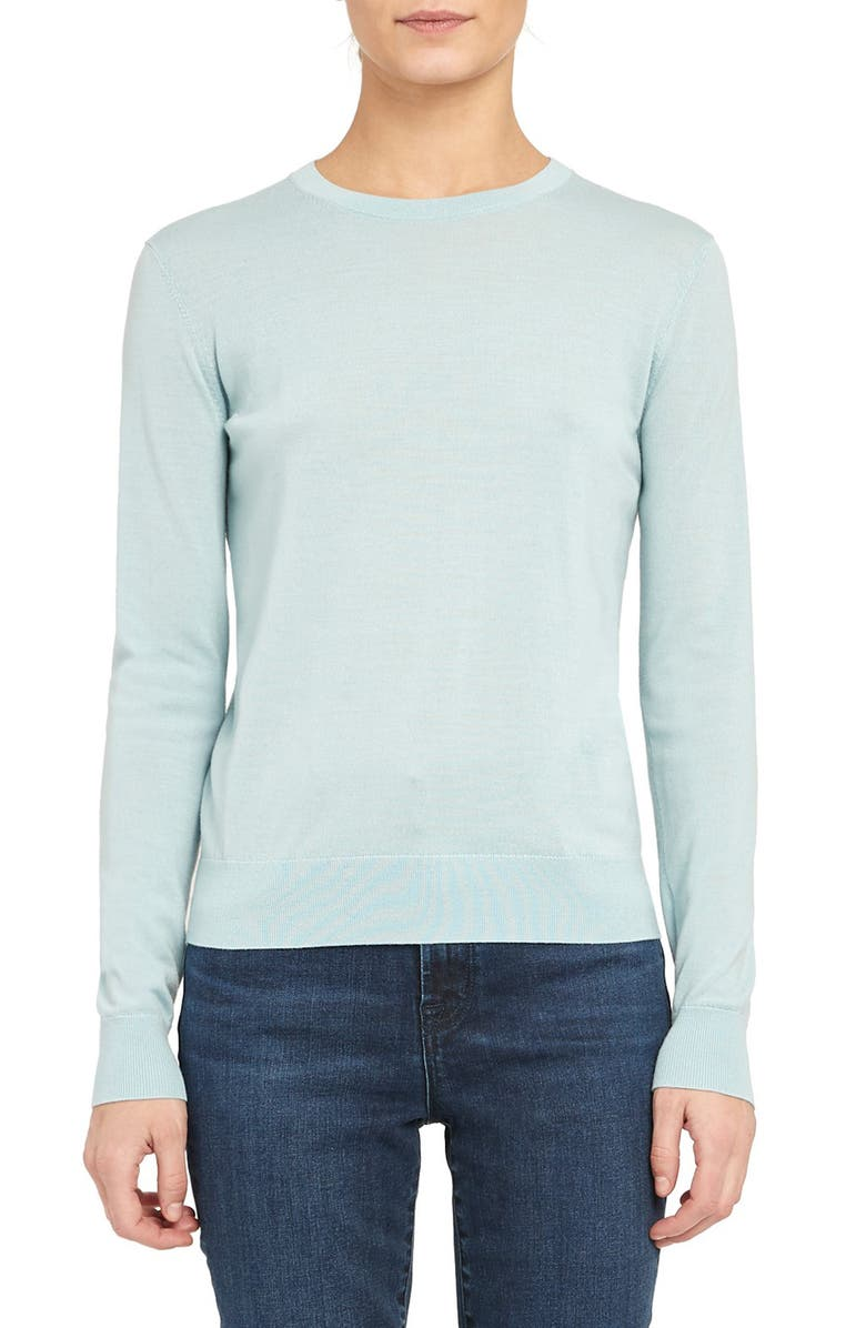 THEORY Regal Wool Blend Crewneck Sweater, Main, color, SKY