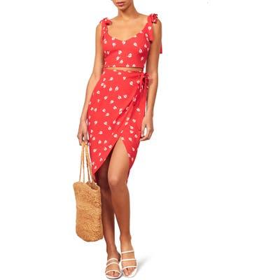 Reformation Belinda Sheath Dress, Red