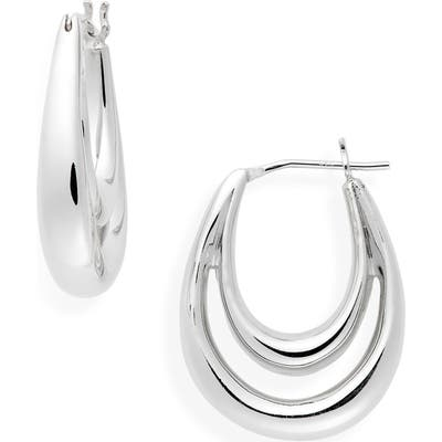 Sophie Buhai Large Blanche Hoop Earrings