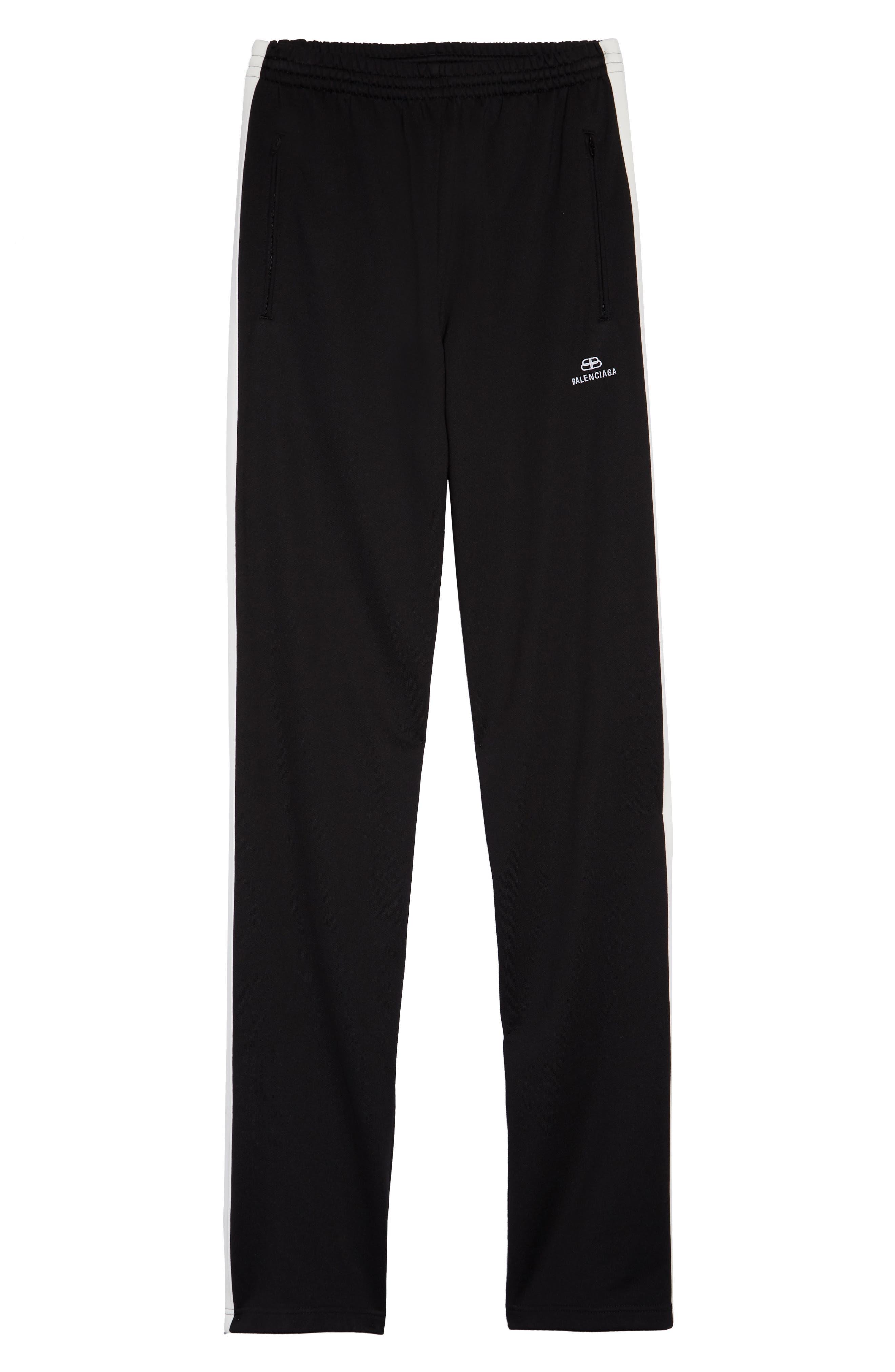 Men's Balenciaga Side Stripe Track Pants,  46 EU - Black
