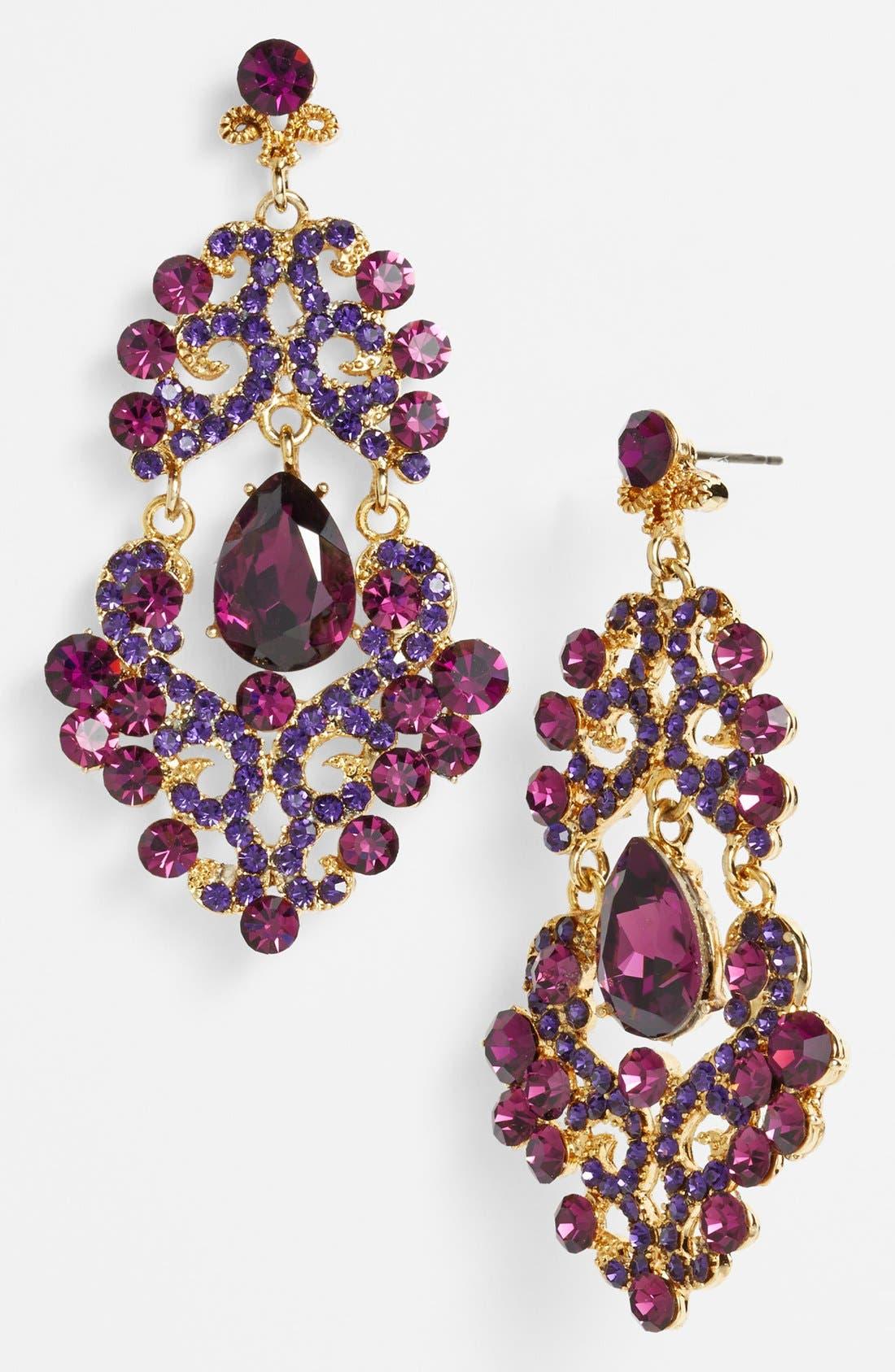 ,                             Ornate Chandelier Earrings,                             Main thumbnail 15, color,                             500