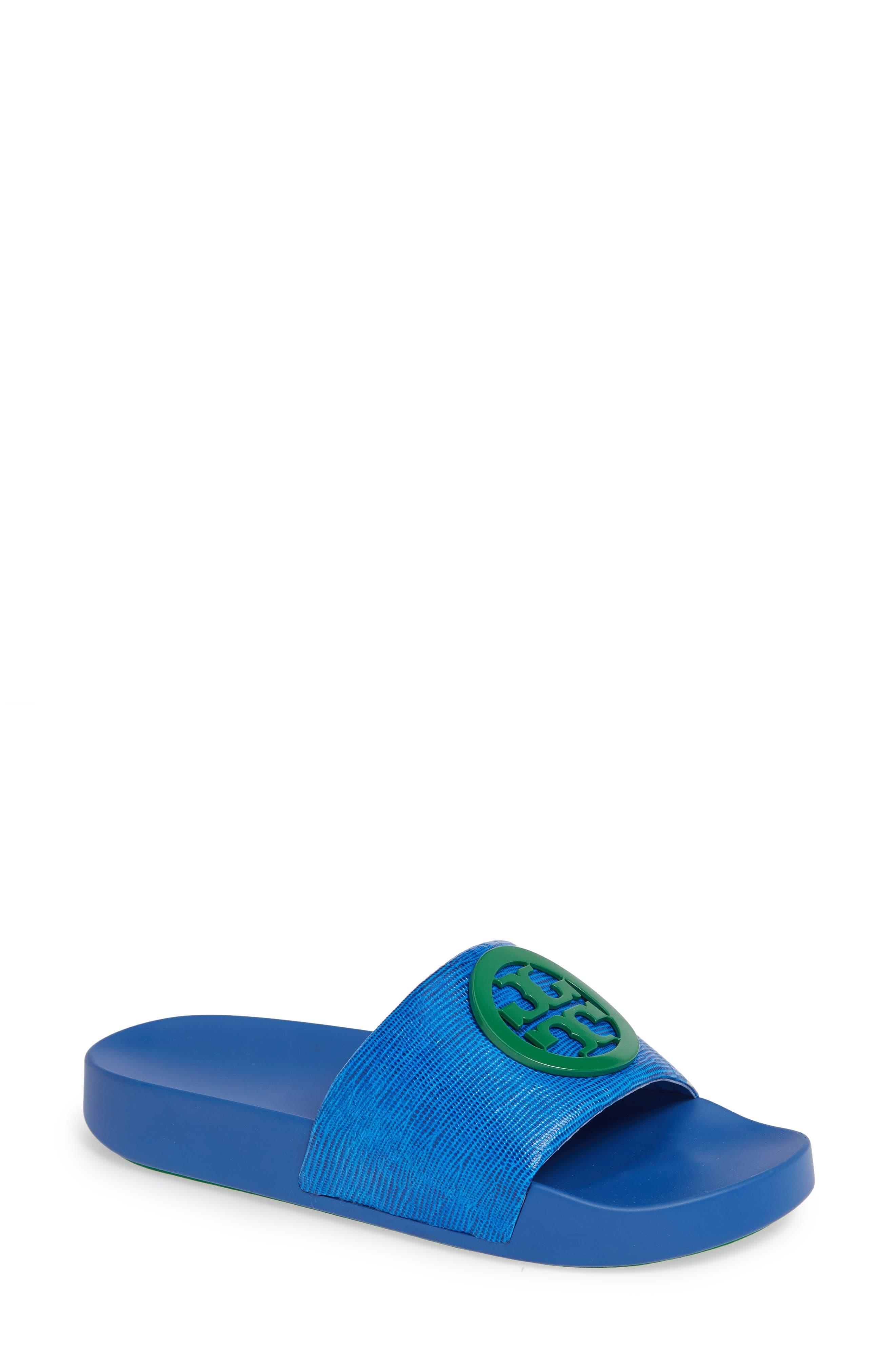 Tory Burch Lina Slide Sandal, Blue