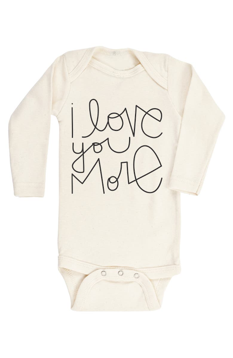 TENTH & PINE I Love You More Organic Cotton Bodysuit, Main, color, NATURAL