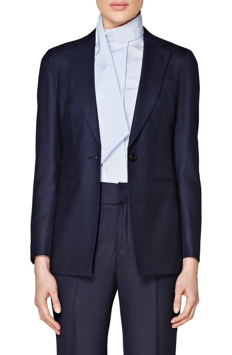 SUISTUDIO Cameron Square Hem Wool Jacket, Main, color, 400
