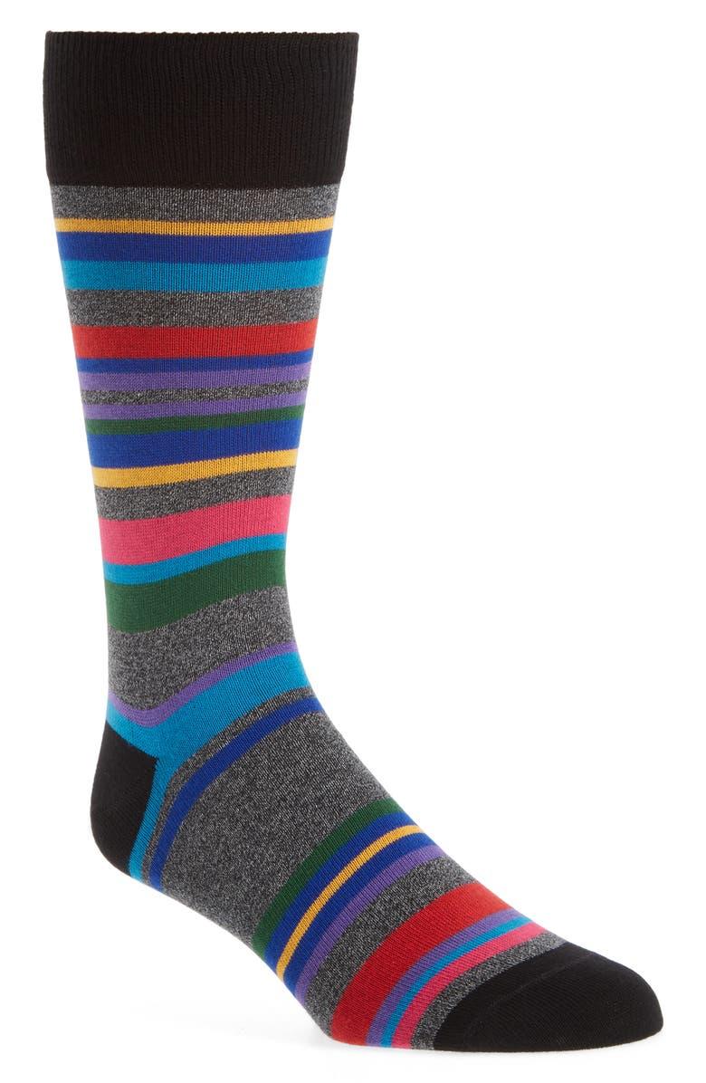 PAUL SMITH Aster Stripe Socks, Main, color, 001