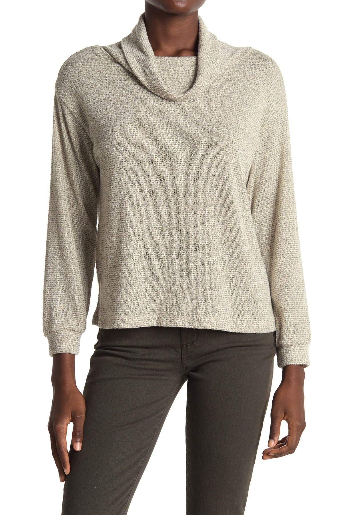 Image of ALL IN FAVOR Cowl Neck Pullover Sweater