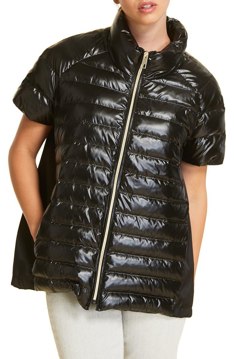 MARINA RINALDI Paella Quilted Jacket, Main, color, BLACK