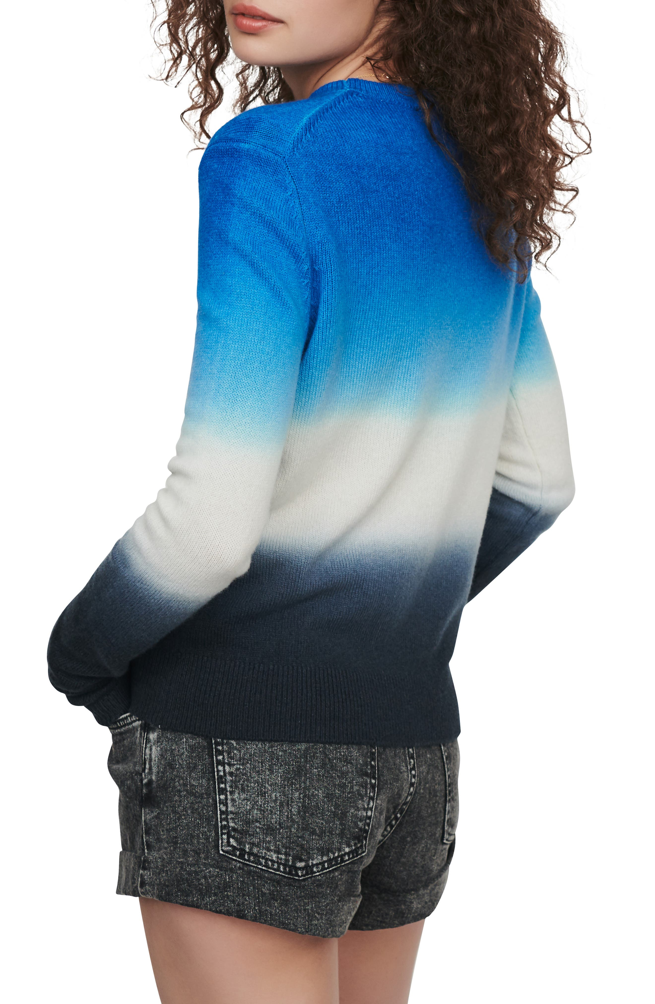 Maje Sweaters Menphis Ombré Wool & Cotton Blend Sweater