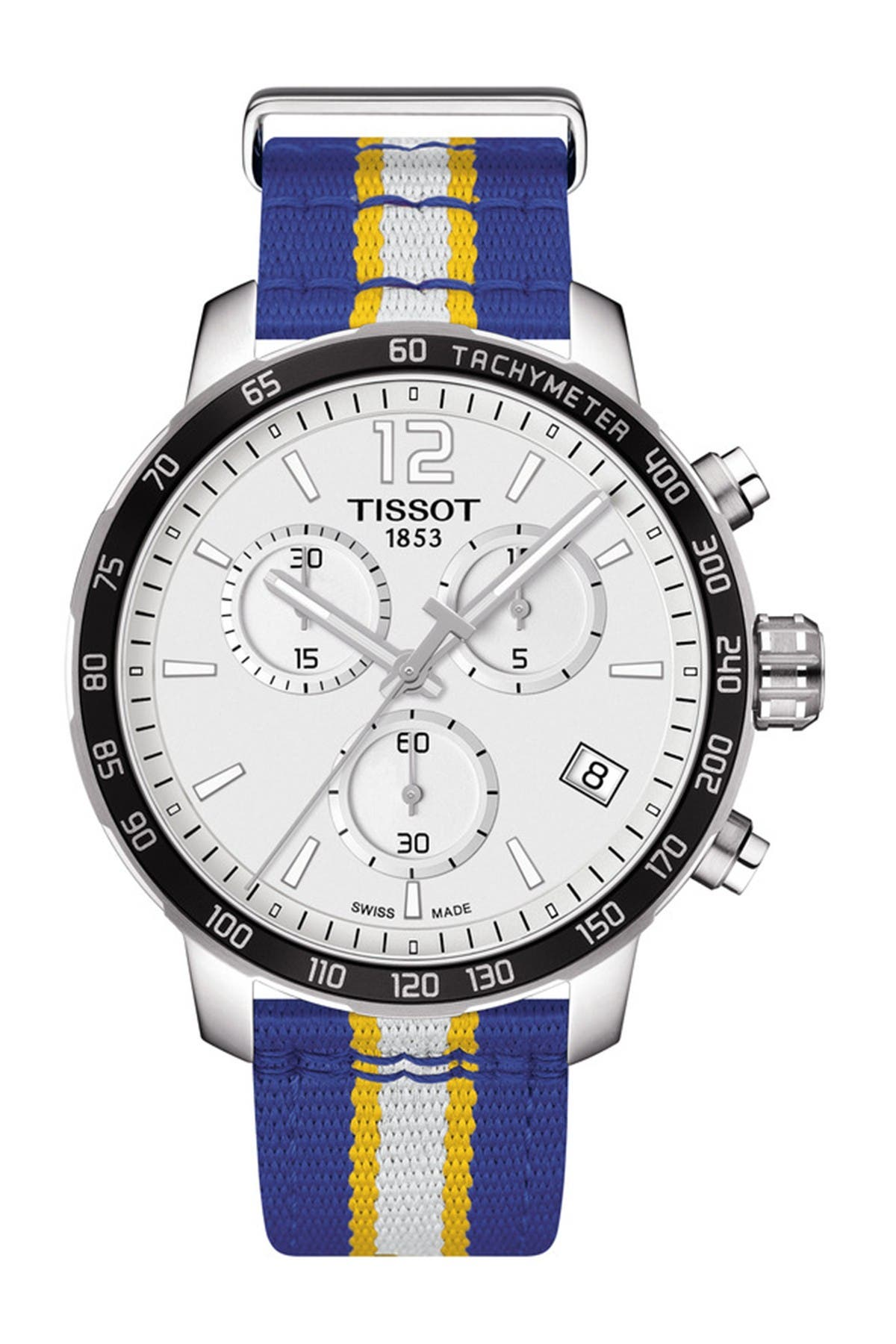 Image of Tissot Men's Quickster Chronograph NBA Golden State Watch, 42mm