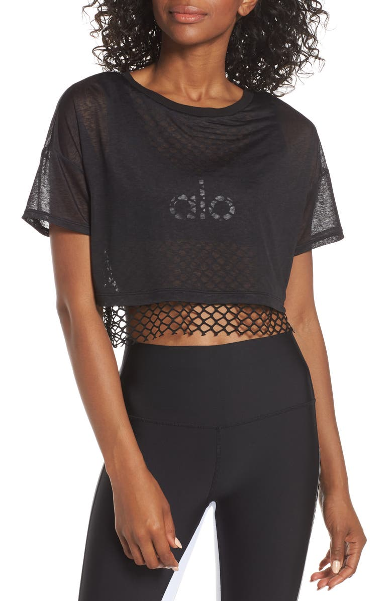 ALO Afterglow Tee, Main, color, 001