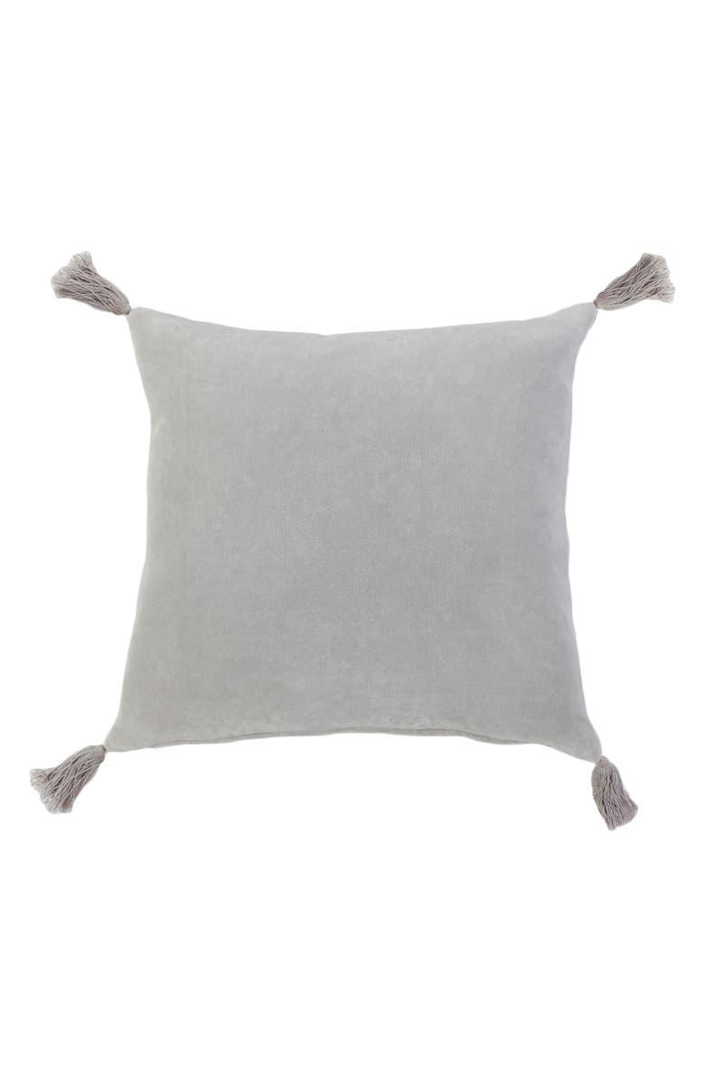 POM POM AT HOME Bianca Accent Pillow, Main, color, LIGHT GREY