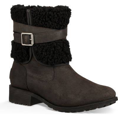 UGG Blayre Iii Wool Cuff Bootie- Black