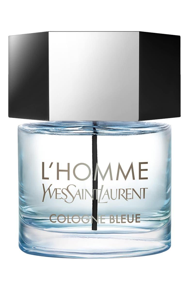 YVES SAINT LAURENT L'Homme Cologne Bleue Eau de Toilette, Main, color, NO COLOR