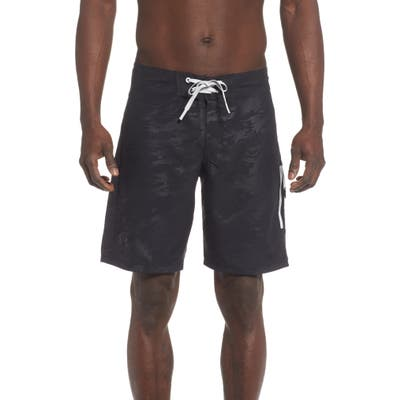 Under Armour Short Break Embossed Board Shorts, Black