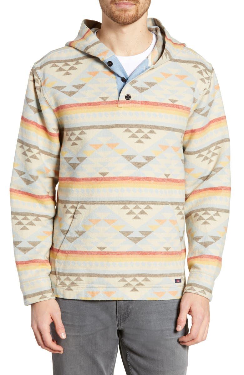 FAHERTY Blanket Baja Hoodie, Main, color, SUNSET RANGE