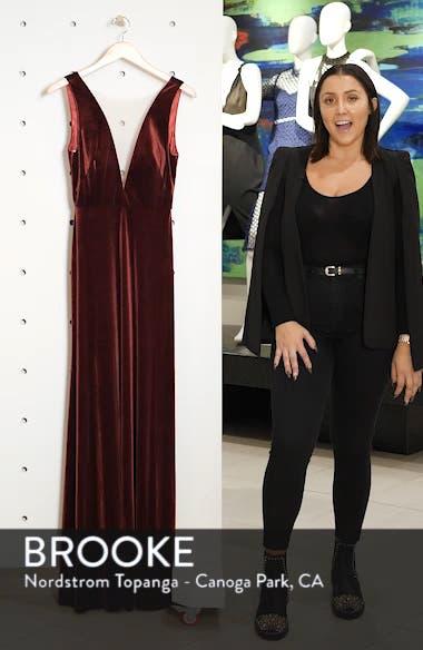 Logan Plunging V-Neck Velvet Gown, sales video thumbnail