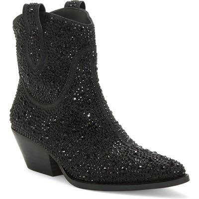 Jessica Simpson Tamira2 Crystal Western Boot- Black