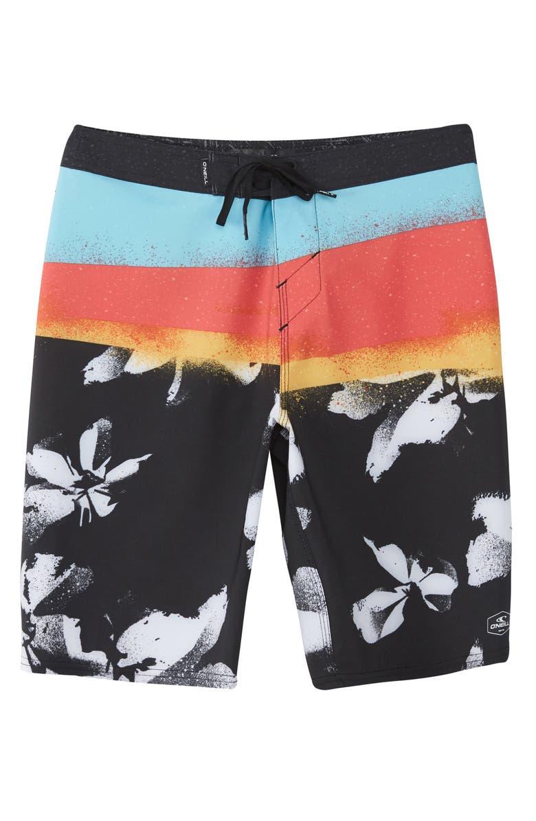 O'NEILL Hyperfreak Elevate Board Shorts, Main, color, BLACK