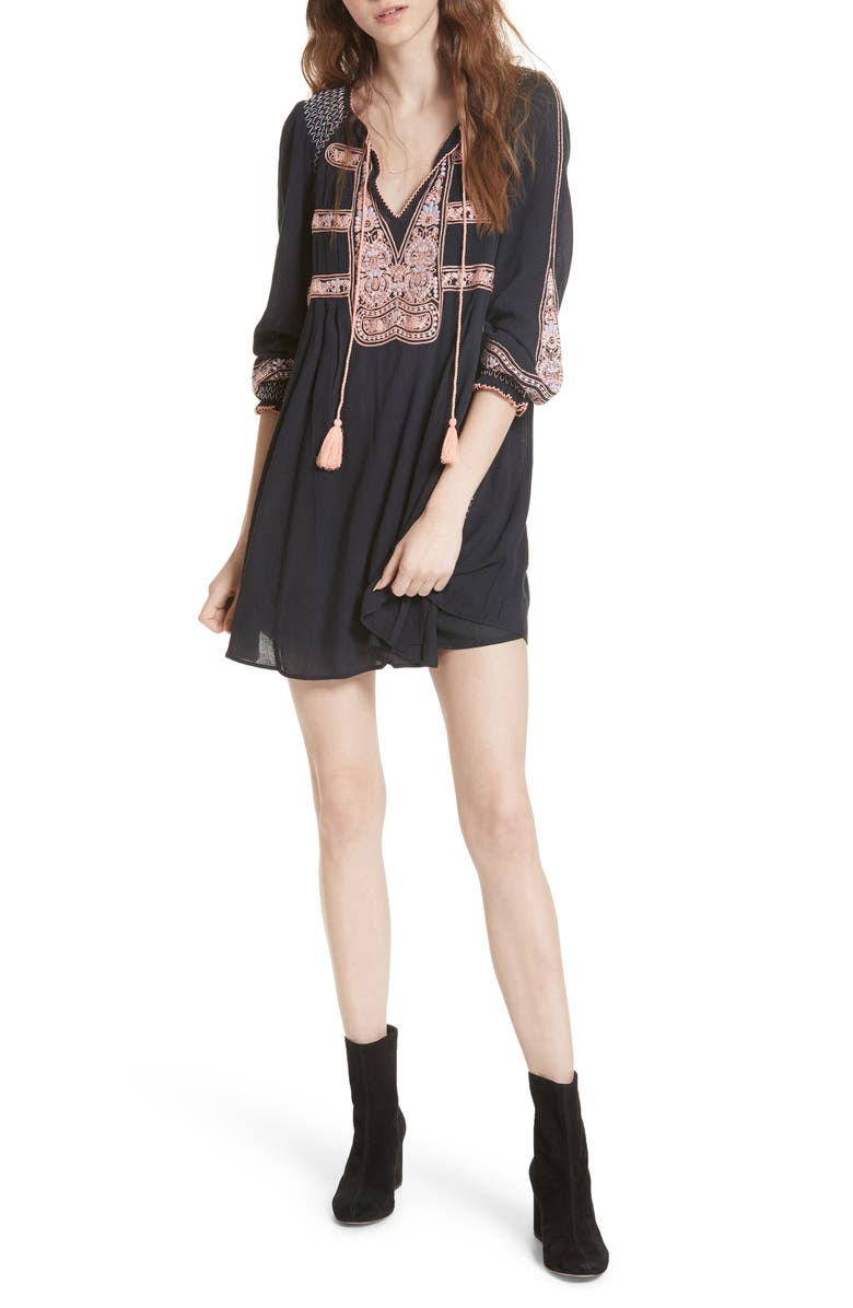 FREE PEOPLE Wind Willow Minidress, Main, color, 001