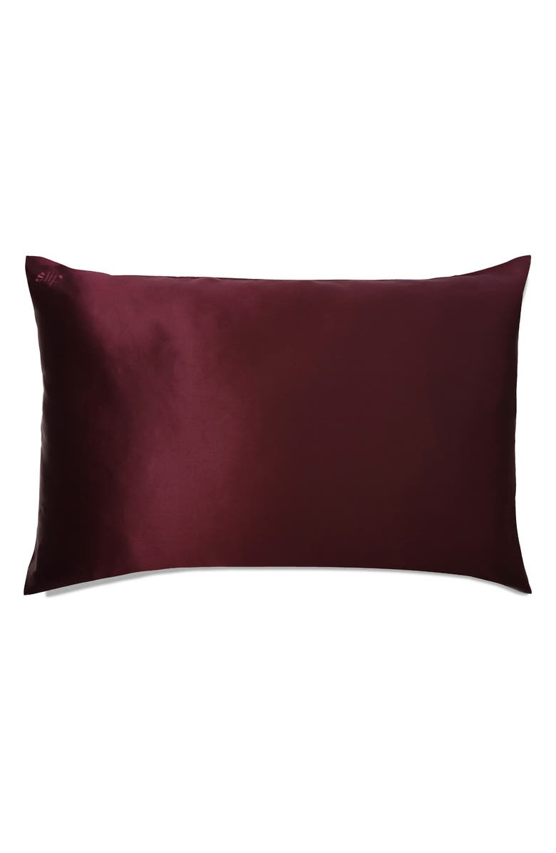 SLIP FOR BEAUTY SLEEP slip<sup>™</sup> for beauty sleep Plum Slipsilk<sup>™</sup> Pure Silk Pillowcase, Main, color, NO COLOR