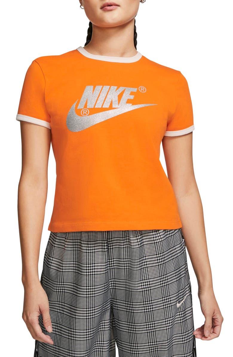 NIKE x Olivia Kim NRG Futura Logo Tee, Main, color, BRIGHT CERAMIC