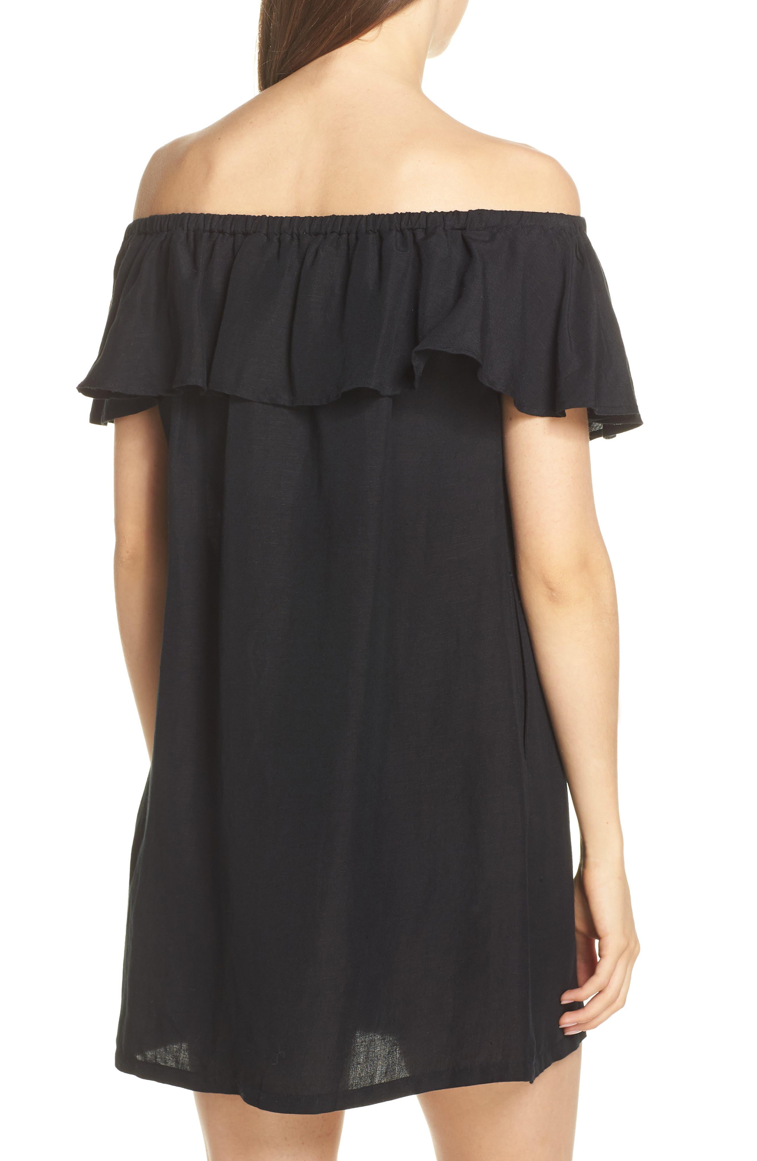 ,                             Off the Shoulder Cover-Up Dress,                             Alternate thumbnail 2, color,                             002