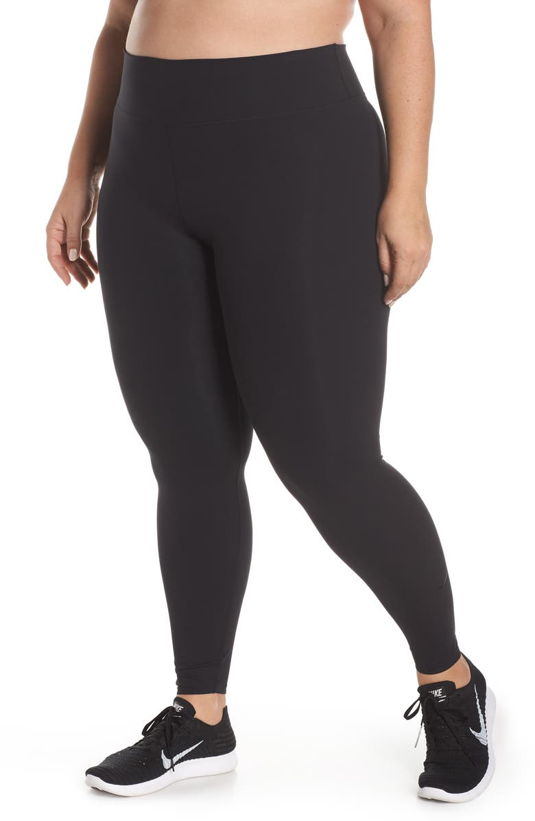 NIKE One Lux Training Tights, Main, color, BLACK/ CLEAR