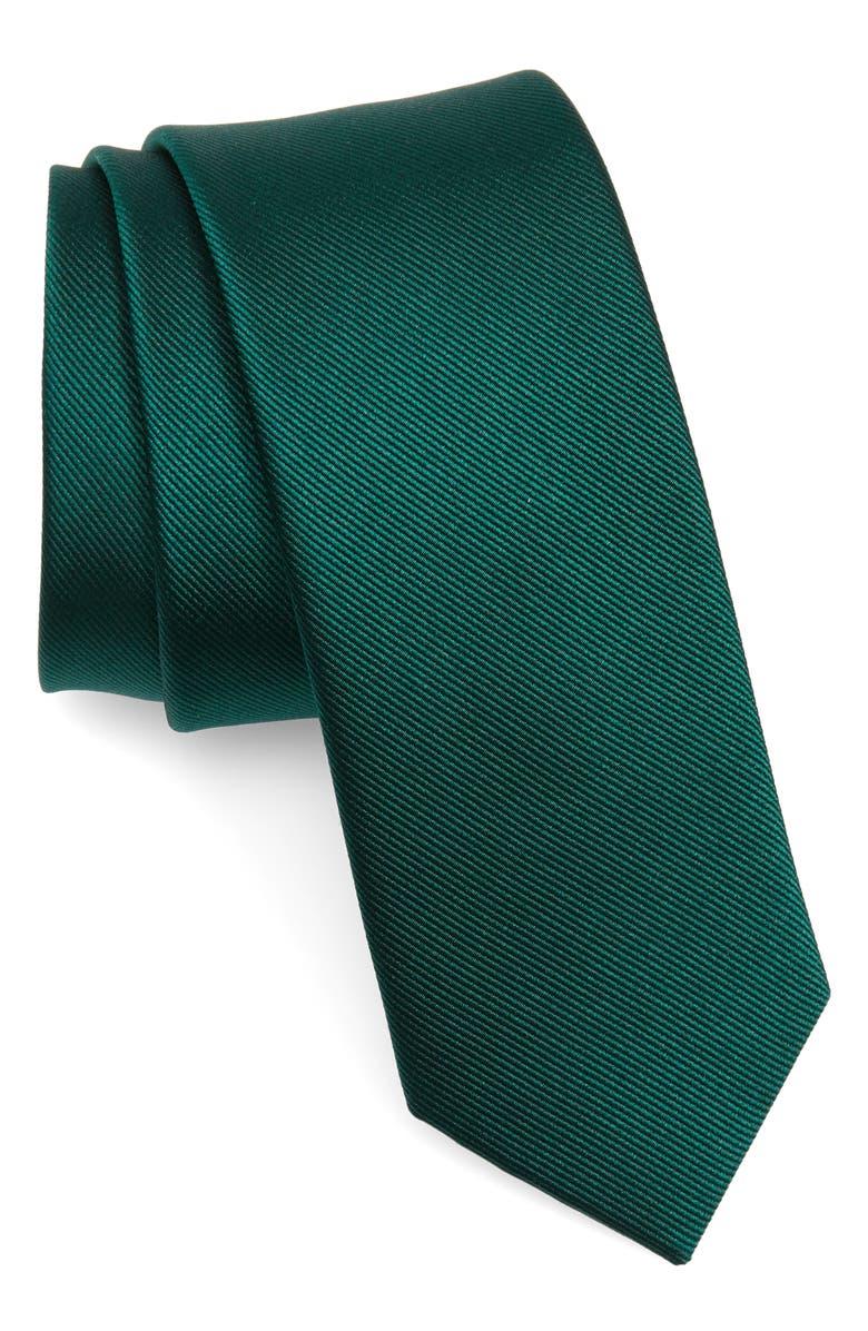 THE TIE BAR Solid Silk Skinny Tie, Main, color, 307