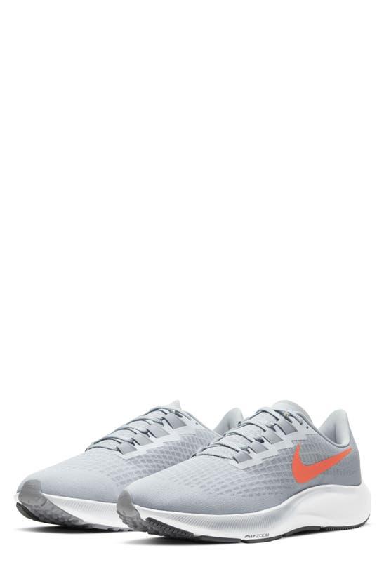 Nike Air Zoom Pegasus 37 Men's Running Shoe In Platinum/ Grey/ Crimson