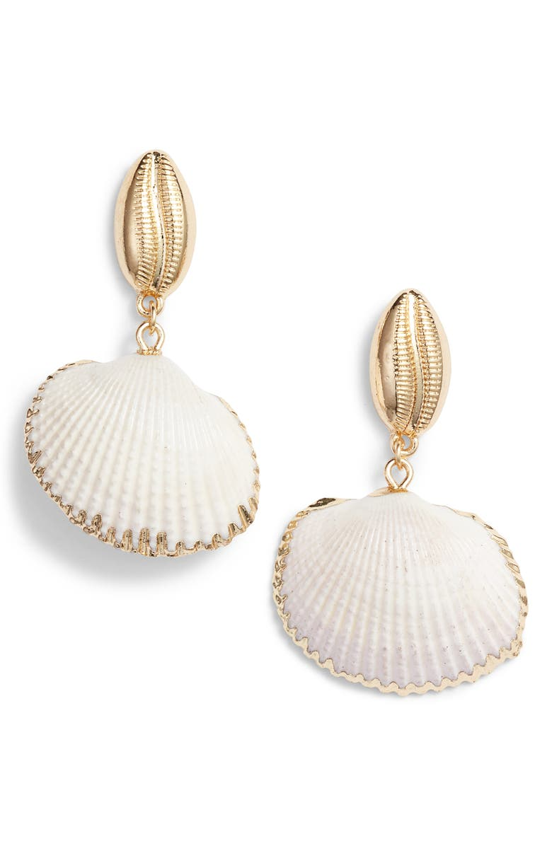 8 OTHER REASONS Elsa Shell Drop Earrings, Main, color, 710