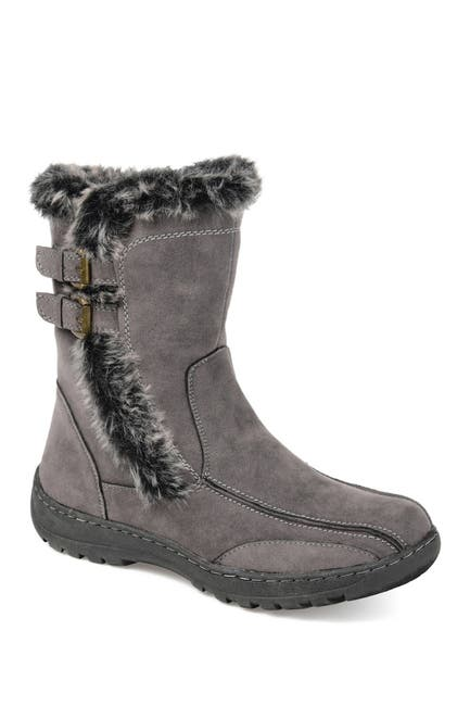 Image of JOURNEE Collection Takani Faux Fur Lined Boot