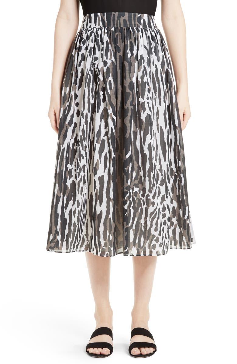7a285e480916fa St. John Collection Leopard Print Midi Skirt | Nordstrom