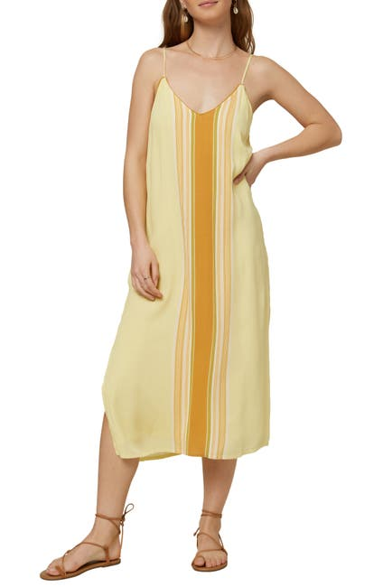 Image of O'Neill Avana Striped Midi Shift Dress