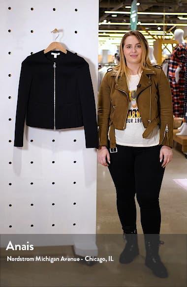 Jaxine Textured Zip Up Jacket, sales video thumbnail