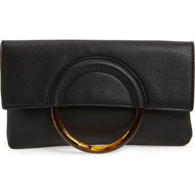 Bp. Ring Handle Classic Clutch - Black