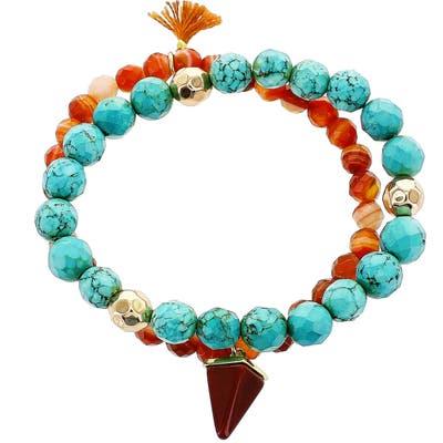 Panacea Set Of 2 Beaded Stretch Bracelets