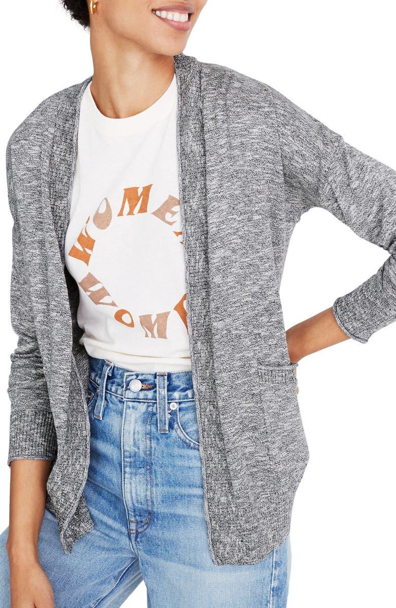 MADEWELL Marled Bradley Cardigan Sweater, Main, color, 020