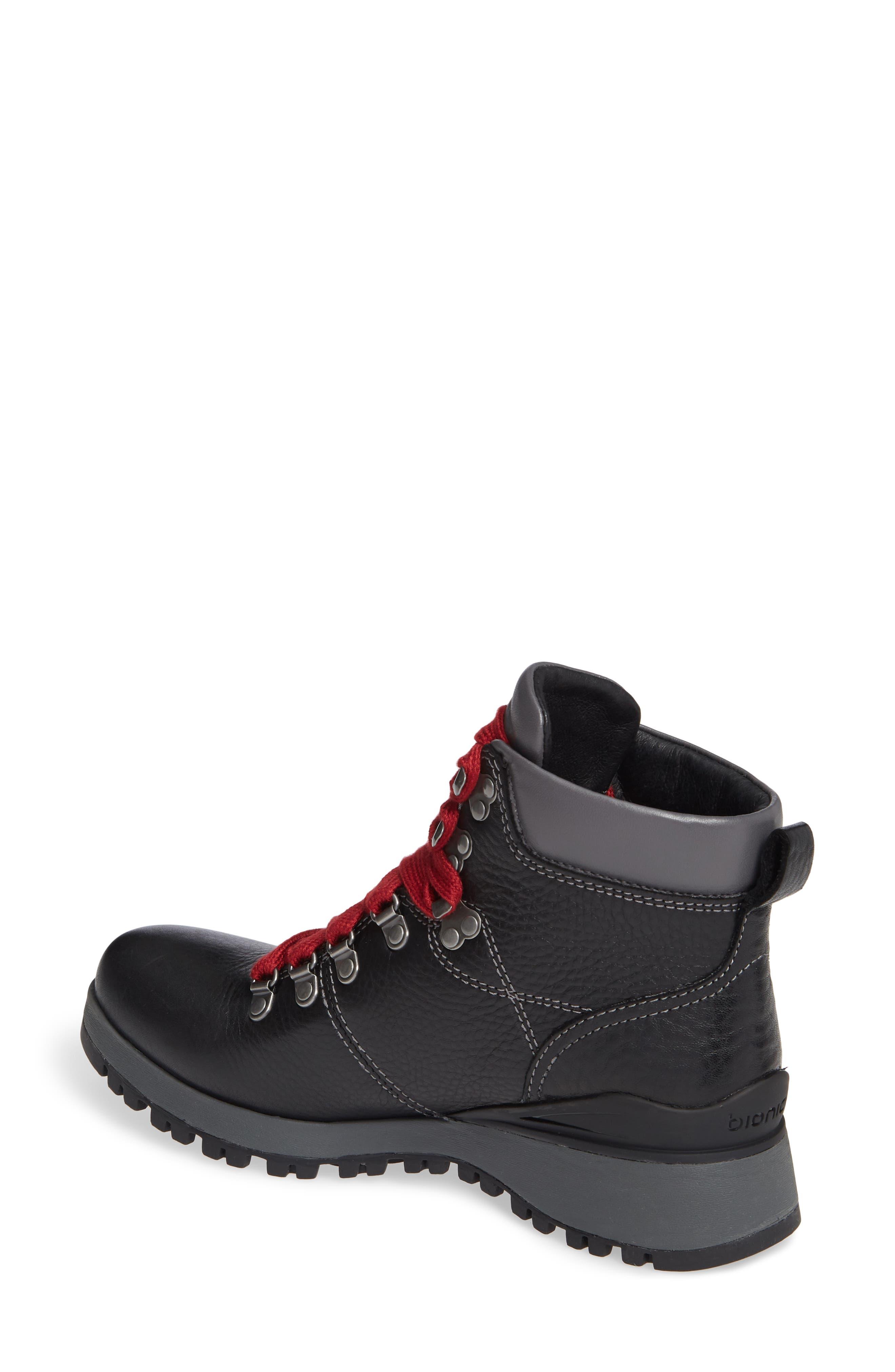 ,                             Dalton Lace-Up Waterproof Boot,                             Alternate thumbnail 2, color,                             BLACK LEATHER