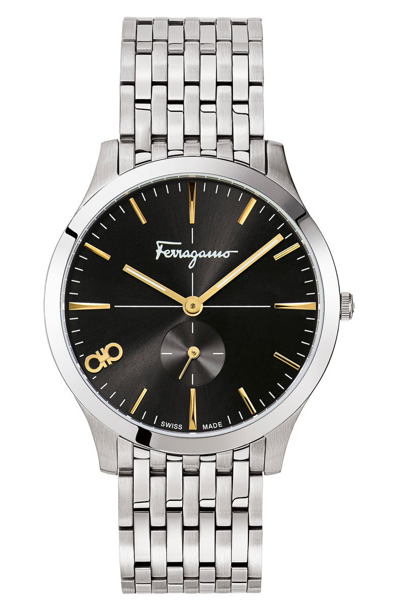 SALVATORE FERRAGAMO Slim Bracelet Watch, 40mm, Main, color, 040