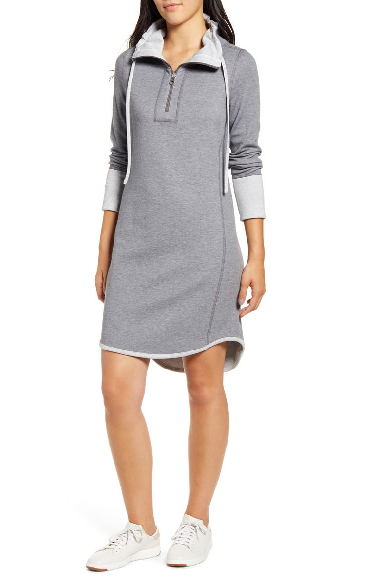 TOMMY BAHAMA Flip Side Reversible Long Sleeve Dress, Main, color, FORGED IRON