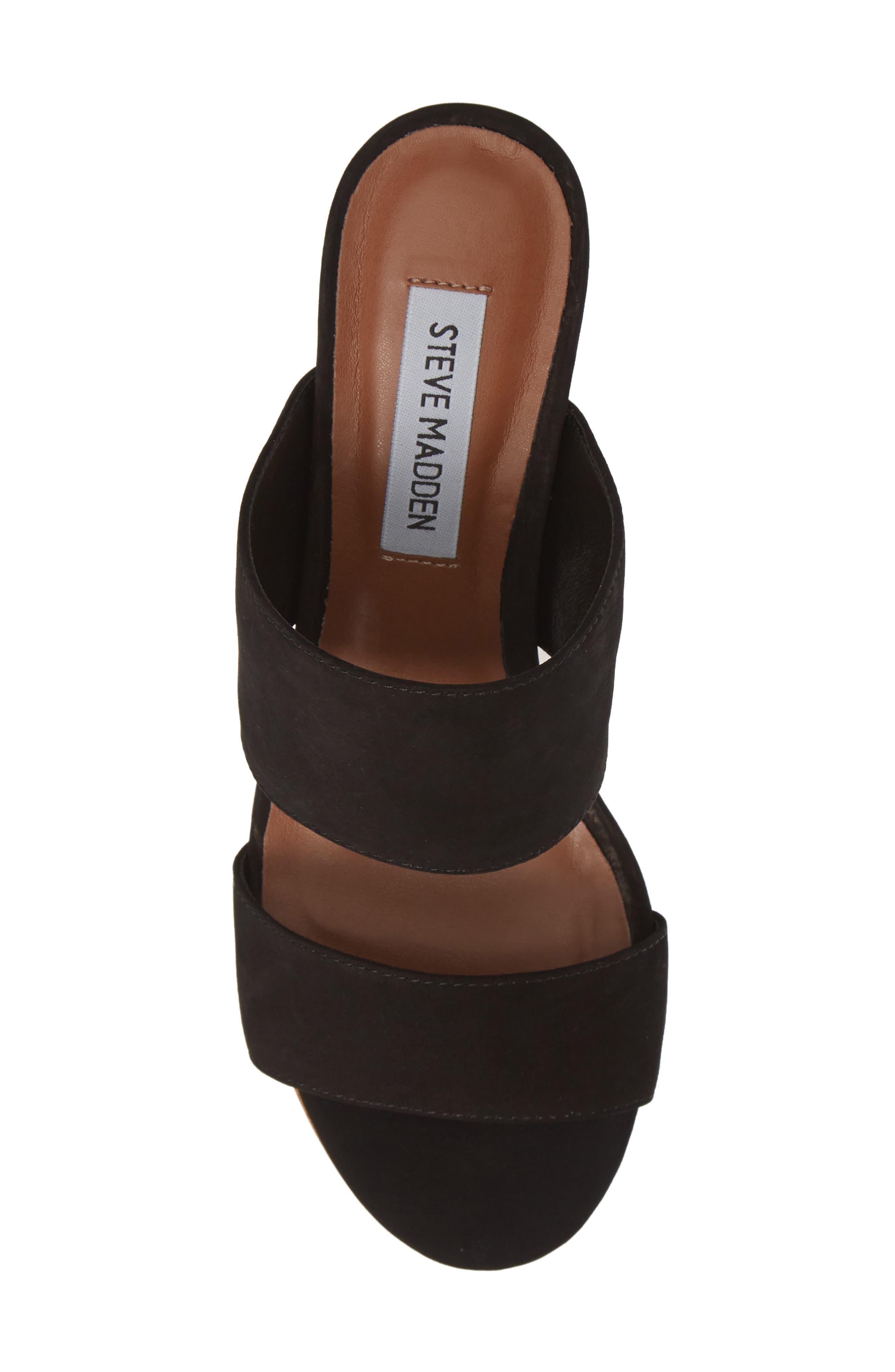 ,                             Ilena Block Heel Slide Sandal,                             Alternate thumbnail 6, color,                             BLACK
