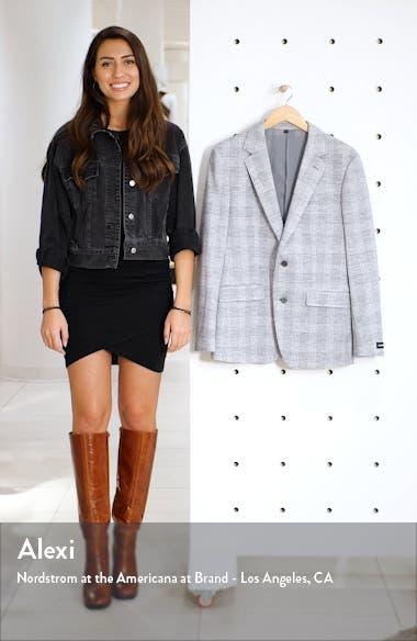 Slim Fit Plaid Wool & Cotton Sport Coat, sales video thumbnail
