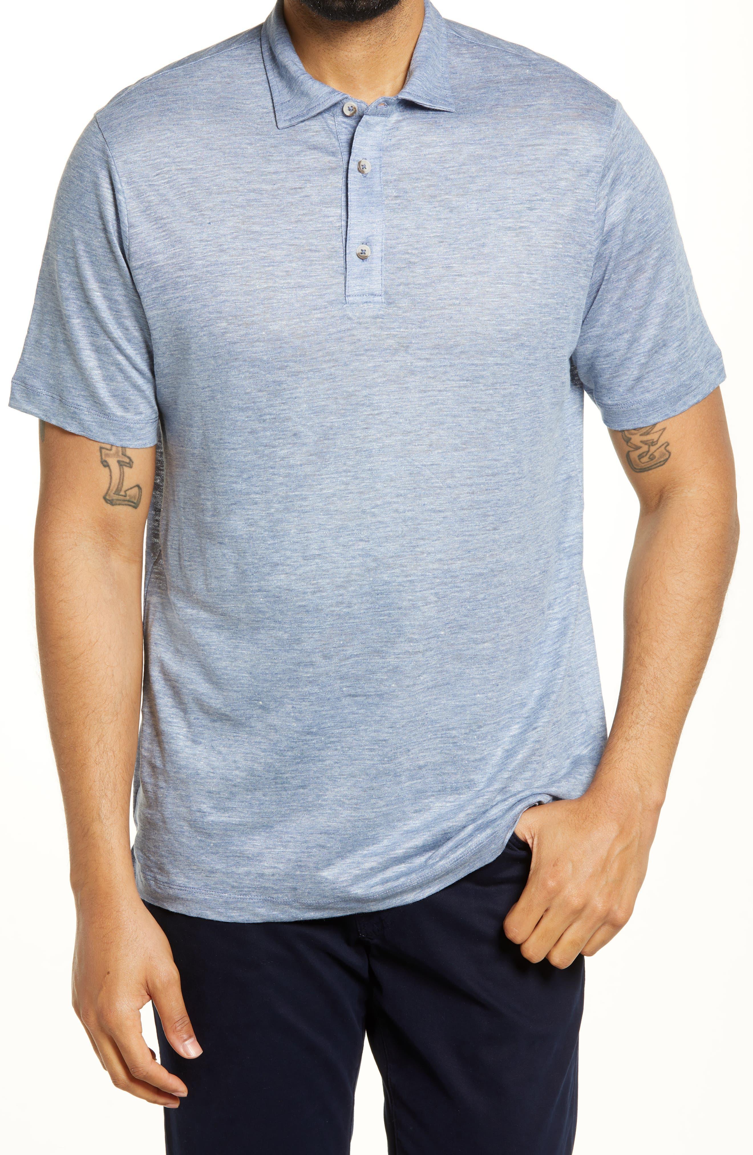 Men's Slub Linen Polo