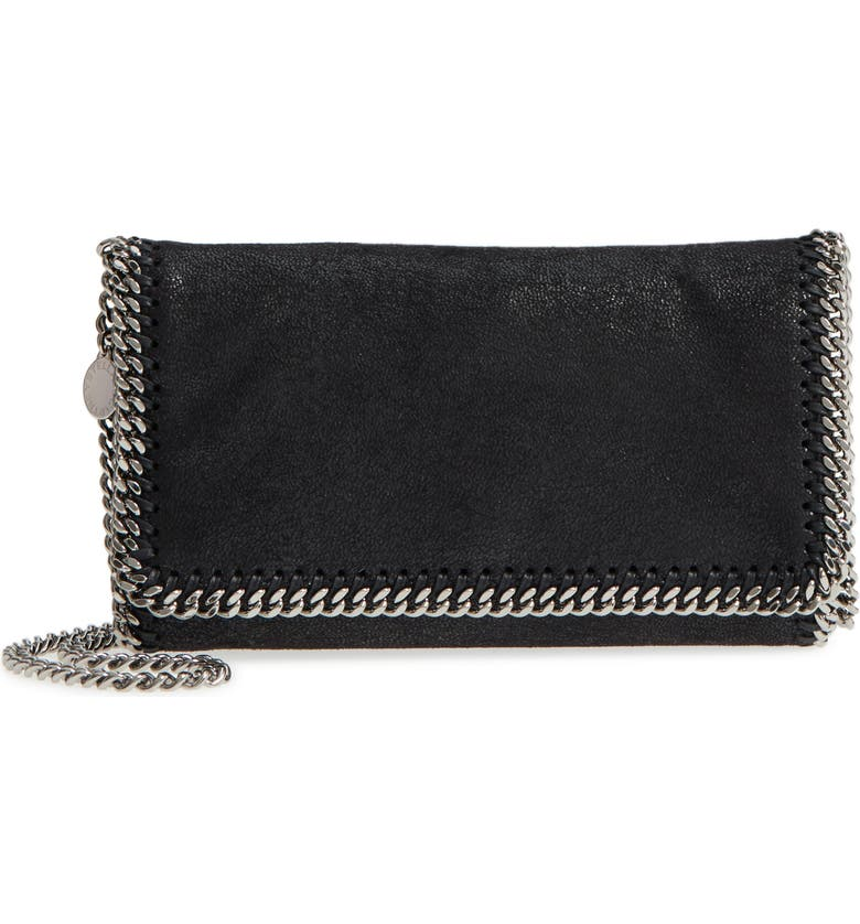 STELLA MCCARTNEY 'Falabella - Shaggy Deer' Faux Leather Crossbody Bag, Main, color, 001