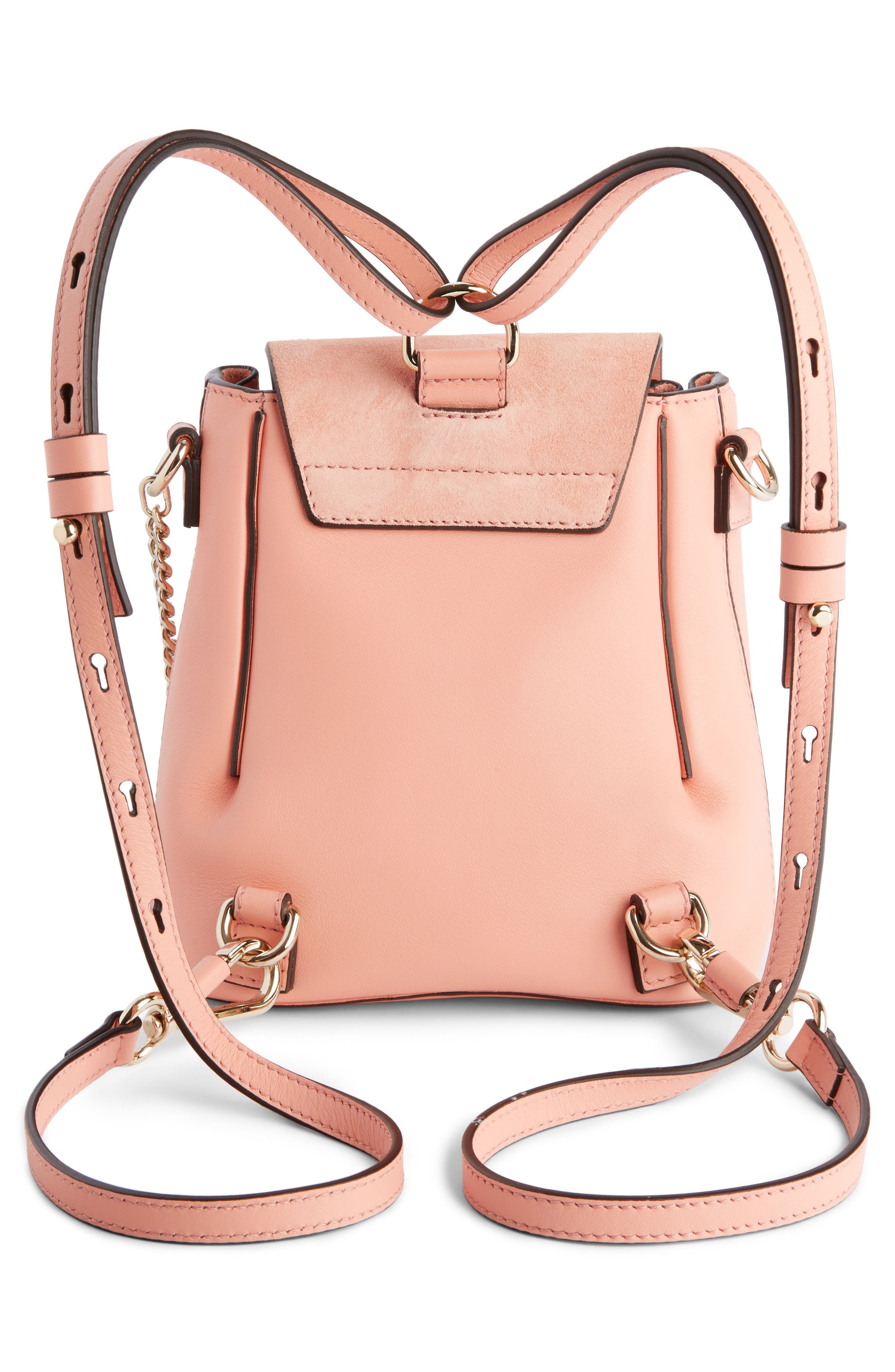 ,                             Mini Faye Leather & Suede Backpack,                             Alternate thumbnail 34, color,                             680