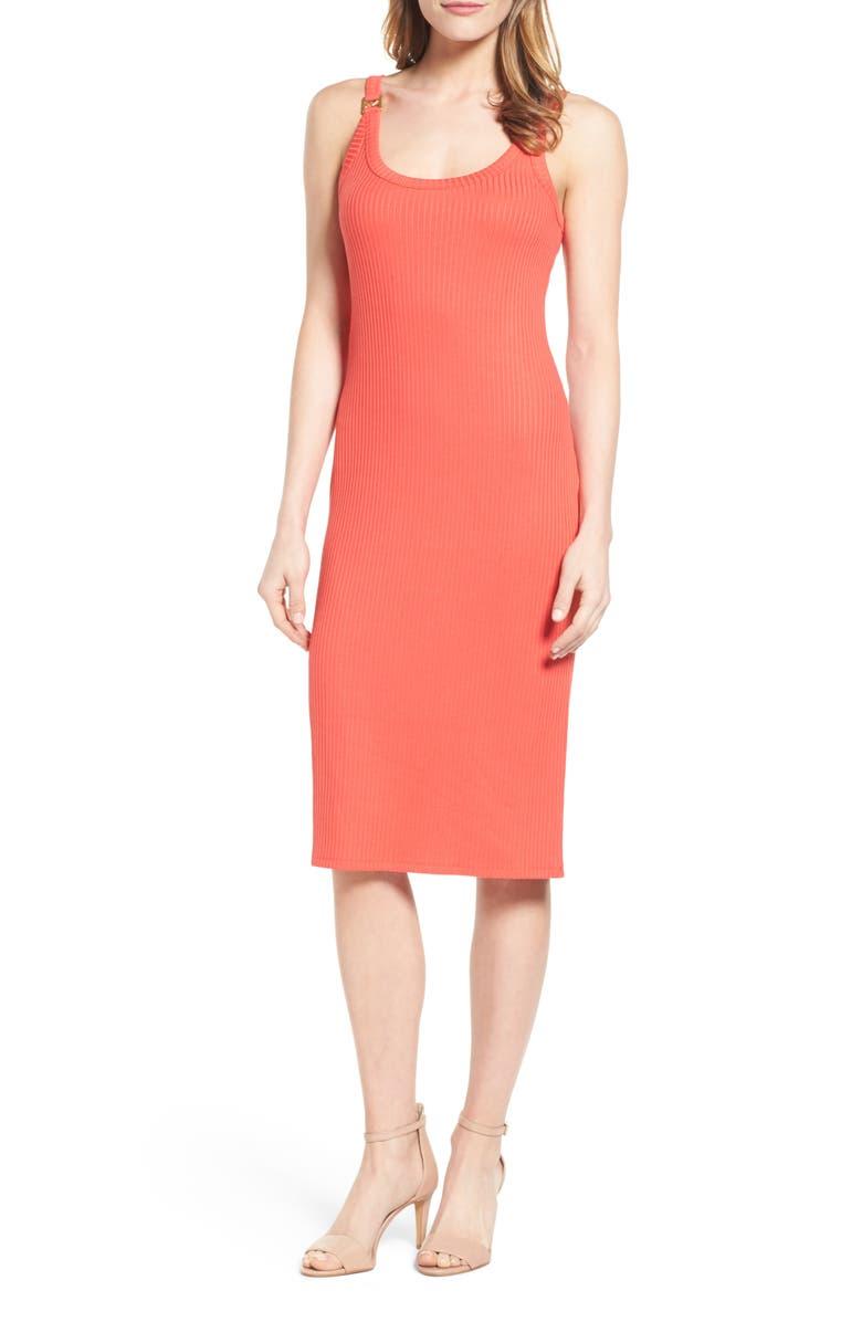 MICHAEL MICHAEL KORS Hardware Detail Tank Dress, Main, color, 950