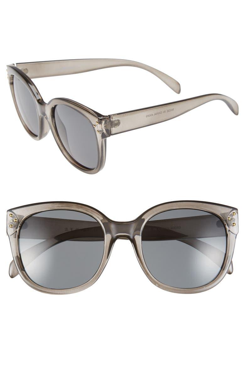 A.J. MORGAN 'Pristine' 55mm Oversized Sunglasses, Main, color, 020