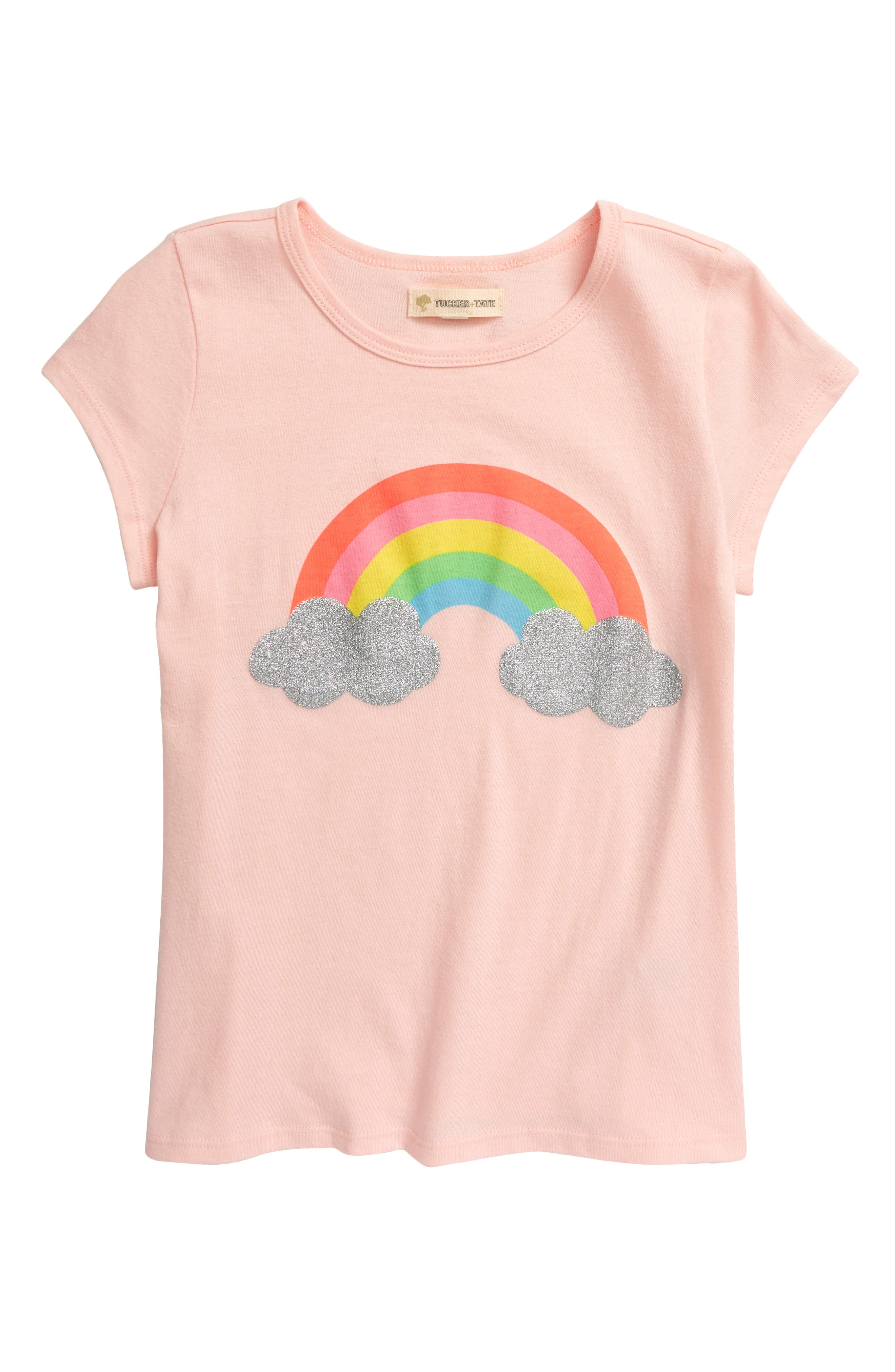 Sparkly clouds punctuate the cheerful rainbow on this soft cotton tee that\\\'s meant for your magical girl. Style Name: Tucker + Tate Kids\\\' Glitter Pop Graphic Tee (Toddler, Little Girl & Big Girl). Style Number: 6016729. Available in stores.