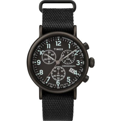 Timex Standard Chronograph Textile Strap Watch, 41mm